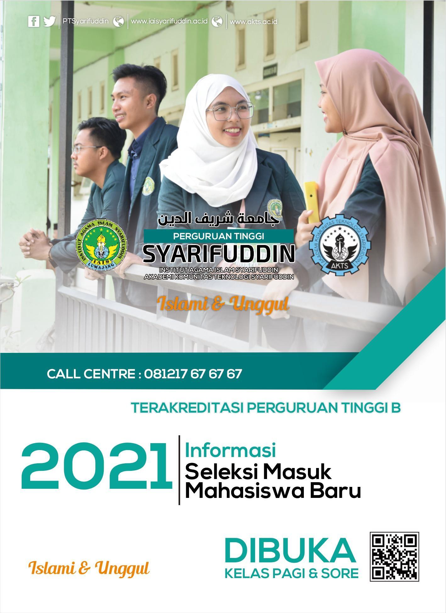 Pendaftaran Mahasiswa Baru Perguruan Tinggi Syarifuddin, Dibuka Kelas Pagi dan Sore