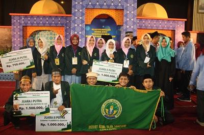 Bersaing Dengan Kampus Negeri, IAI Syarifuddin Juara Umum Ketiga MTQM Regional Jatim V 2018